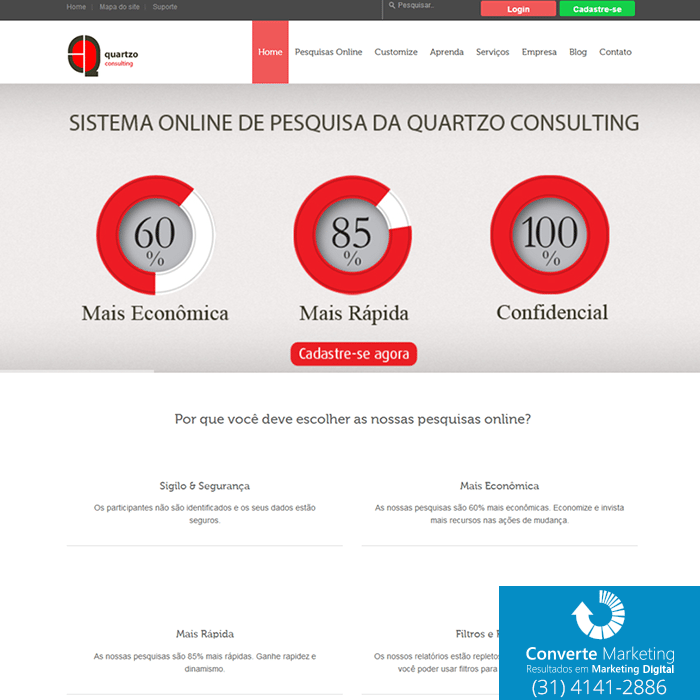 quartzo consulting website
