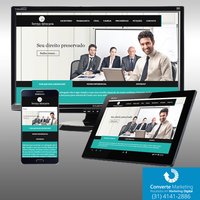 servico advocacia website